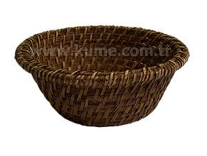 Ekmek Sepeti Yuvarlak Model Dikişli 19 Cm Ekmek Sepetleri Sepet